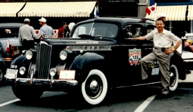 With the Packard in Ottawa